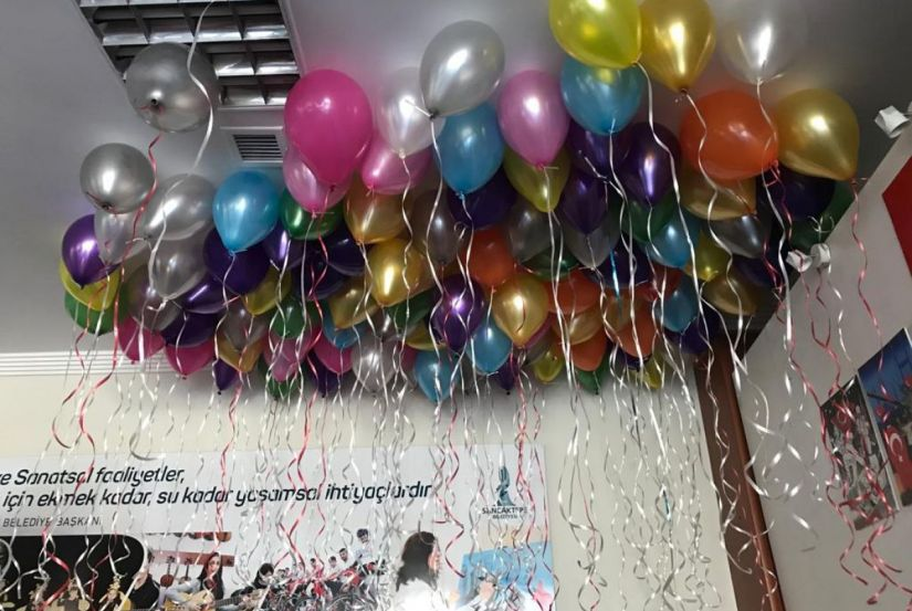 Uçan balon - Uçan balon demetleri - doğum günü, açılış, kokteyl, söz, nişan