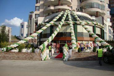 Açılış Organizasyonu Bina Balon Süsleme