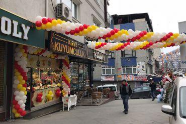 Açılış Organizasyonu Giriş Kemer Süsleme, Popcorn ve Kokteyl Masaları