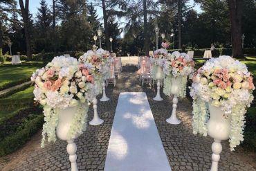 Düğün organizasyonu gelin yolu süsleme