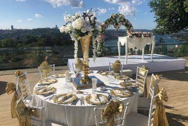 Düğün organizasyonu gold konsept