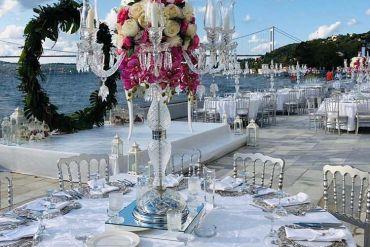 Düğün organizasyonu gümüş konsept