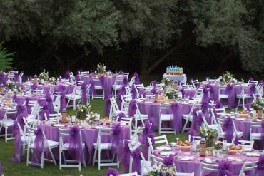 Düğün Organizasyonu Süsleme, Masa Sandalye Süsleme