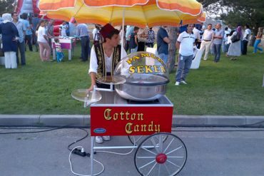 Karnaval Yiyecekler Pamuk Şeker