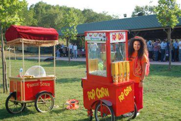 Karnaval Yiyecekler Popcorn ve Pamuk Şeker