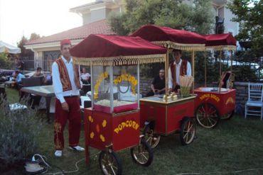 Karnaval Yiyecekler Patlamış Mısır, Dondurma, Pamuk Şeker