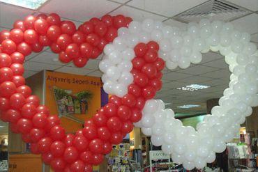 Kalp Balon Süsleme