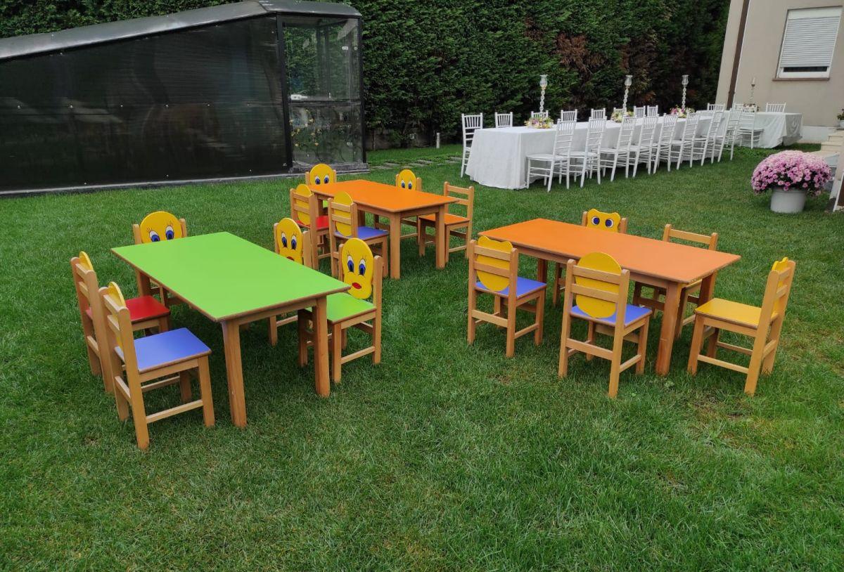 Çocuk masa sandalyesi kiralama